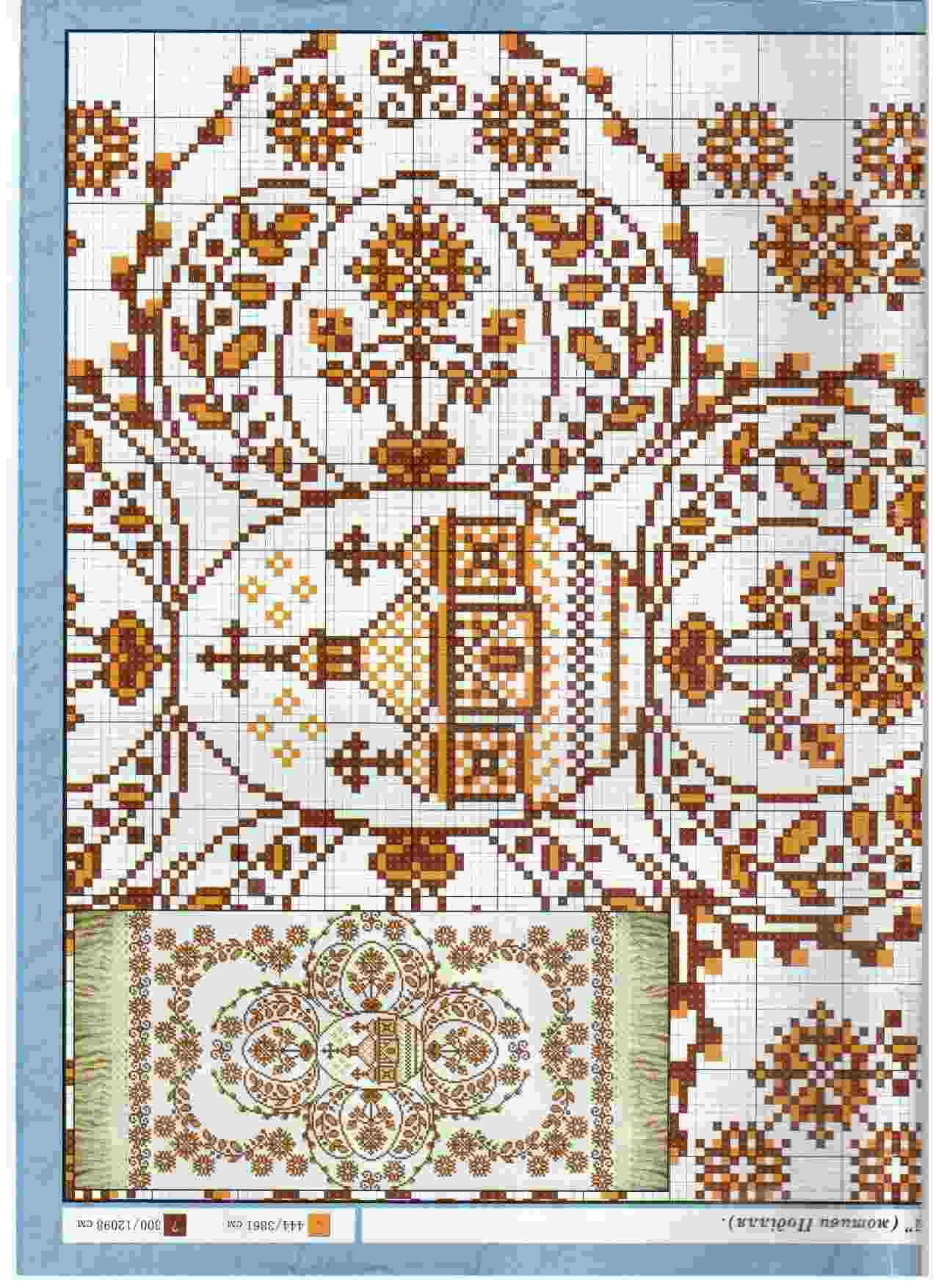 схема вышивки рушник пасха