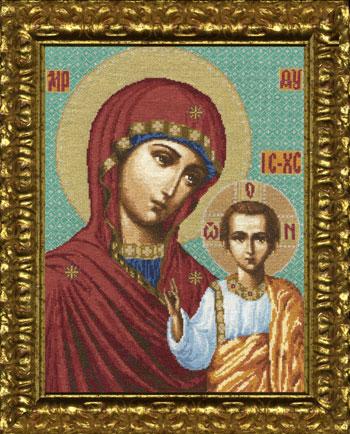 Вышивка крестом Казанская